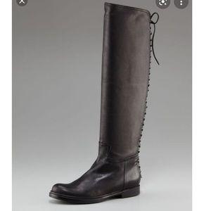 Miu Miu Sz 38.5 / 9 - Black Laceup Knee High Boots